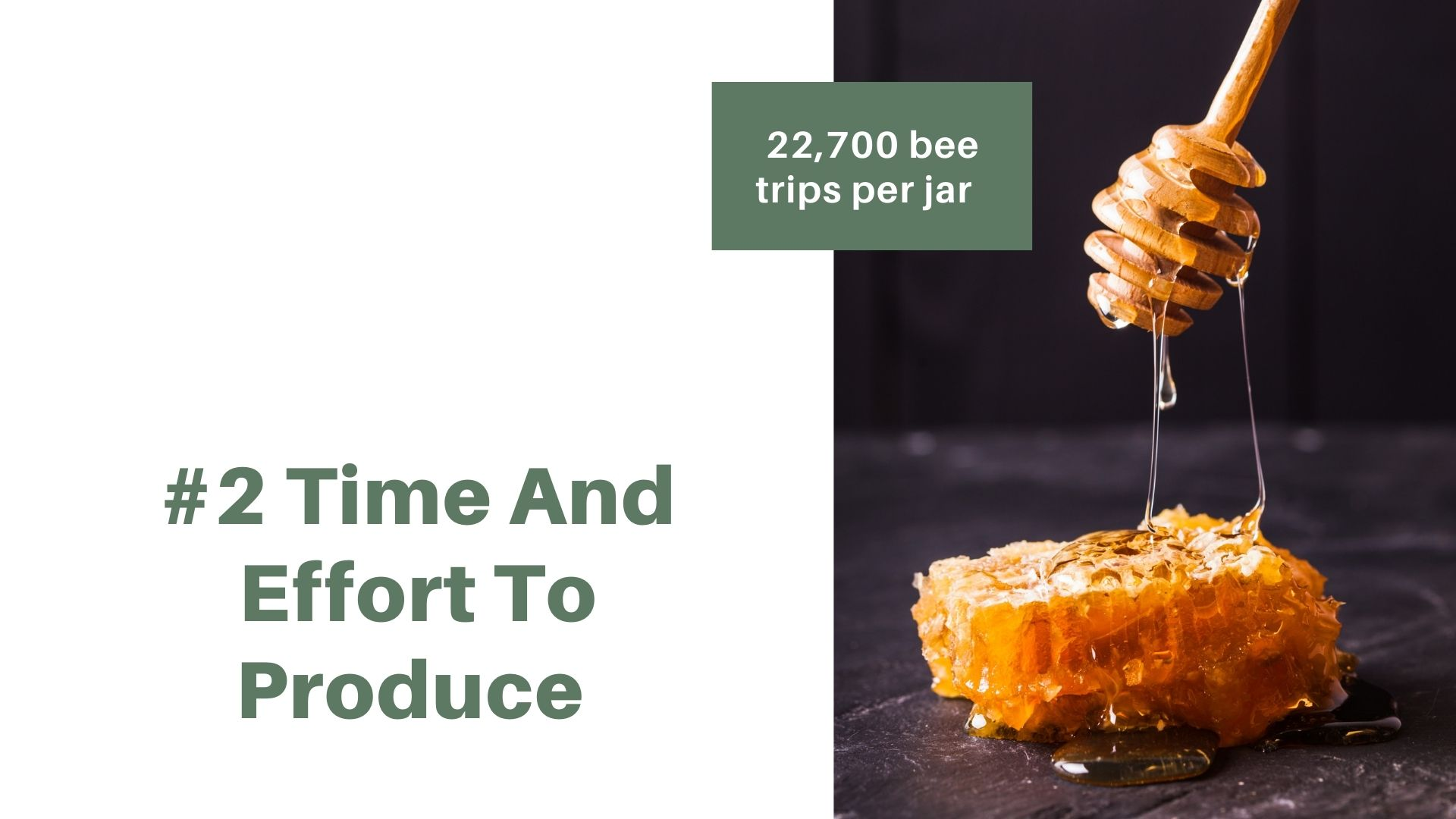 takes time and effort to produce manuka honey
